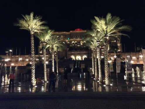 Night view - Emirates Palace.