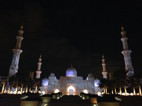 Night view - Sheikh Zayed Grand Mosque Centre.
