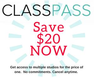 Save $20 off ClassPlass