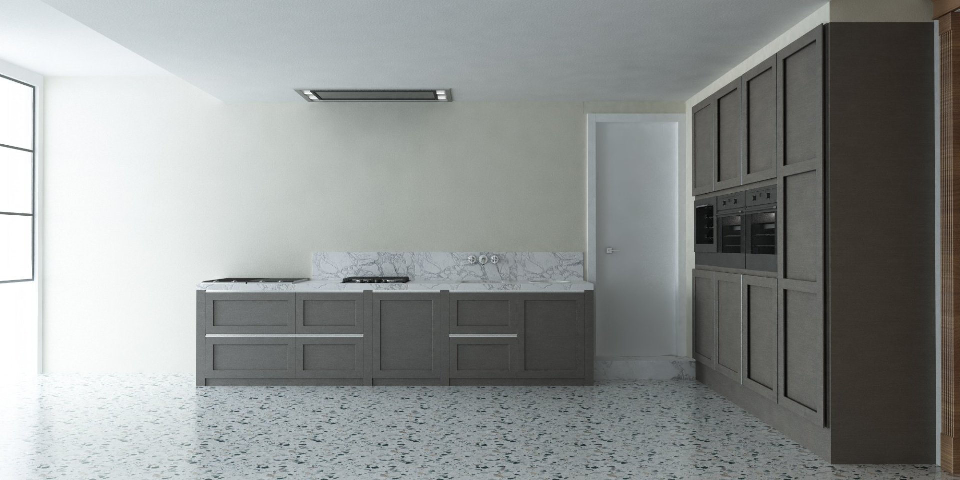 Render Cucina Classico Veneziana altra prospettiva | SP interior Design