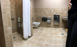 wheelchair accessible family bathroom great wolf lodge concord