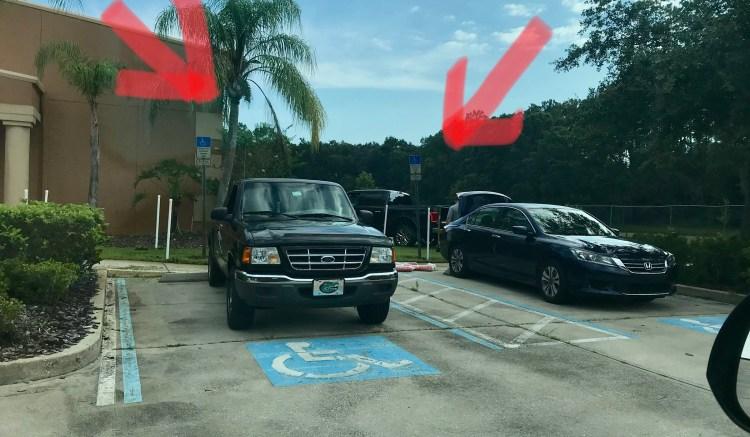 handicap accessible parking violation