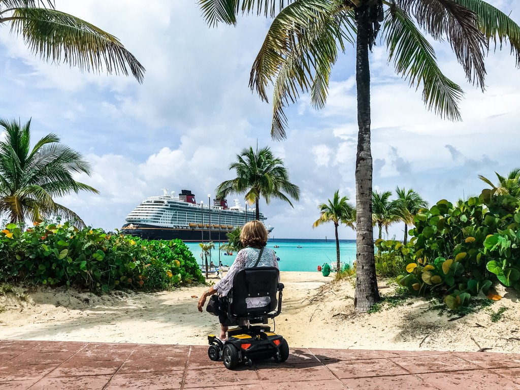 Cruise Port of Call Wheelchair Accessibility Review: Castaway Cay, Bahamas