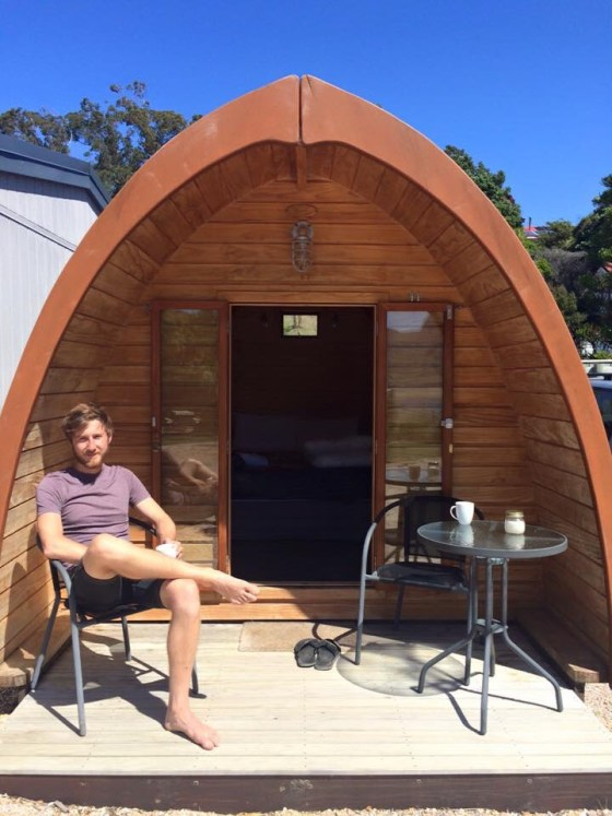Eco-Pod at Collingwood Park in Golden Bay, New Zealand