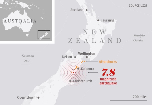 New Zealand Kaikoura Earthquake
