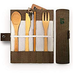 Bamboo Cutlery - Plastic Free Travel Tips - Five Easy Swaps - spinthewindrose.com