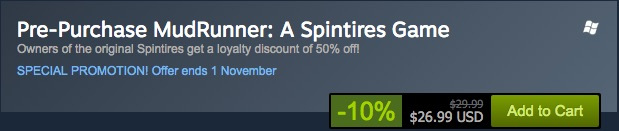 pre purchase spintires mudrunner discount