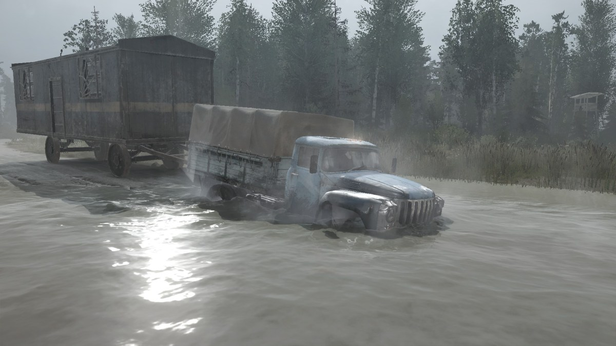 Map Russian Valley (Scavenge) for Spintires Mod Map
