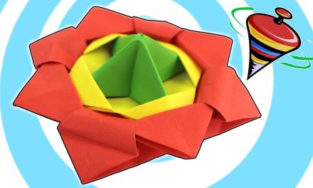 Origami Spinning Top Tutorial by Origamite
