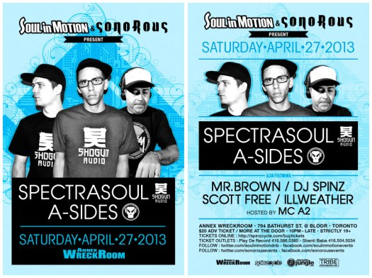Spectrasoul April 27th Toronto