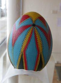 Painted Emu Egg by Josie Johnson