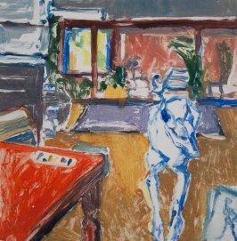 "E Sue Chancellor ""Studio Dog"" 30 x 31 cm"
