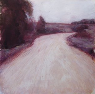 """A Rick Andersen """"Coopers Gully Rd"""" mixed media 77 x 77 cm"""