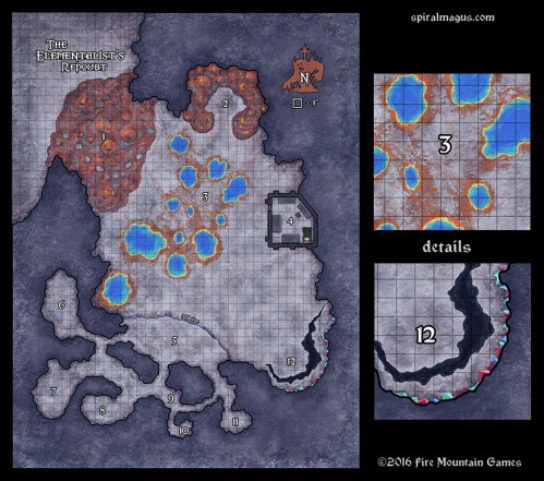 Map of the Elementalist's Redoubt