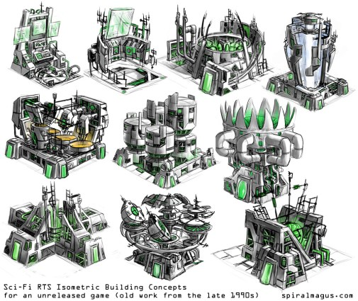 SciFi RTS Building Concepts