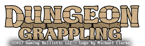 Dungeon Grappling Title Logo Design