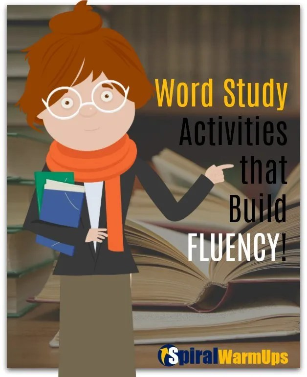 Activities in Fluency in our Free Word Study Warm-Ups