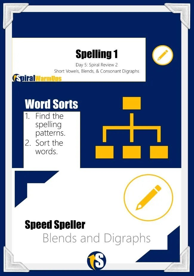 Word Study Warmups with Spelling Sorts