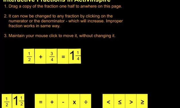 Fractions in Flipcharts