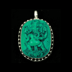 Pendentif Ganesh en pâte de Turquoise