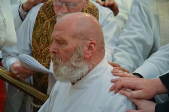 On Thursday May 18, Jim Lile was ordained into the Sacred Order of Presbyters at St. Philip's Episcopal Church, Joplin, Missouri. Image credit: Robert Smith
