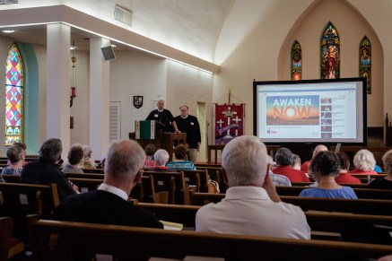 Two Reverend Dr.s Ted Estes, and Steve Rottgers. Image credit: Gary Allman