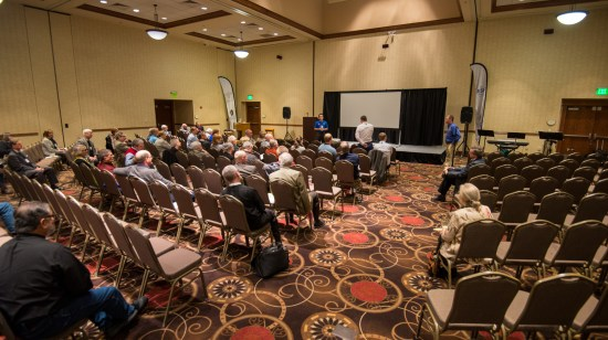 Diocesan Treasurer, Caleb Cordonnier reports on the work of the Finance Team at the Diocesan Gathering Image credit: Gary Zumwalt