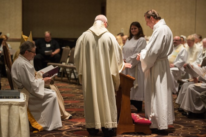Kary Mann and Larry Ehren about to be Ordained into the Sacred Order of Deacons Image credit: Gary Zumwalt