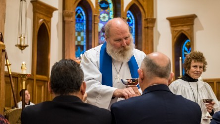 The Rev. James Lile's first Eucharist as Rector at All Saints' Episcopal Church, Nevada, Missouri Image credit: Gary Allman
