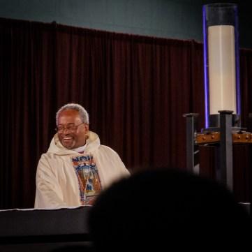 Presiding Bishop Michael Curry at the opening Eucharist. Image: Gary Allman