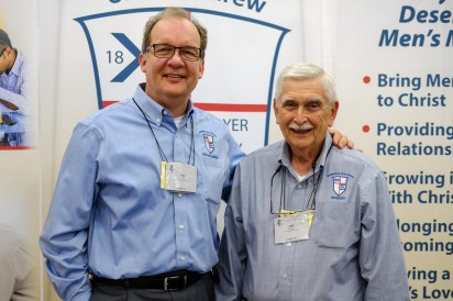 Tom Welch, Executive Director (Left) and Jeff Butcher, President of the Brotherhood of St. Andrew. Image: Gary Allman