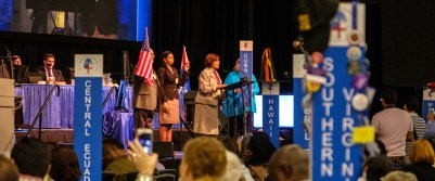 Cuba responds to the successful vote to admit the Episcopal Diocese of Cuba into the House of Deputies. Image: Gary Allman