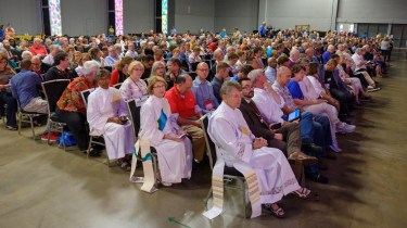 Closing Eucharist of the 79th General Convention of The Episcopal Church. This is less than a third of the people present. Image: Gary Allman