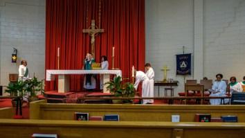 Communion at St. Augustine's. Image: Gary Allman