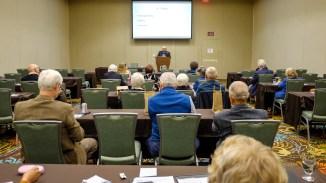 John Hoskins provides information on establishing legacy giving. Image: Gary Allman