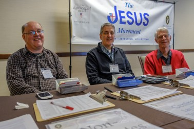 James Ellsworth, Ron Michka and Channing Horner on the front desk. Image: Gary Allman