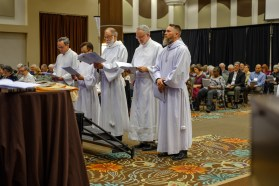 Friday, November 2. Ordination to the diaconate of Bradley Heuett, William Hurst, Chandler Jackson, Sean Kim, Marco Serrano at the opening Eucharist of the 129th Convention of The Diocese of West Missouri. Image: Gary Allman