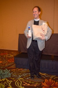 Welcome package for The Rev. Mark Ohlemeier. Image: Donna Field