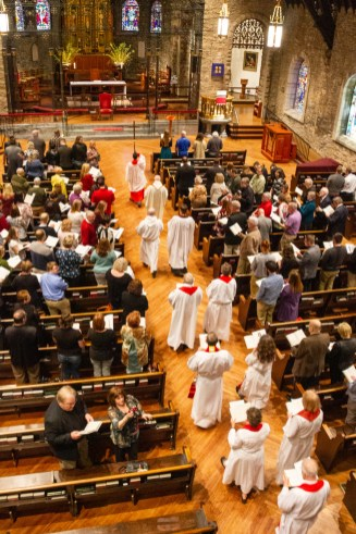 The ordinations into the Transitional Diaconate of James Yazell and Joseph Pierjok at Grace and Holy Trinity Cathedral on March 24, 2019. Image credit: Chris Morrison