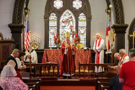 Bishop Marty's blessing. Christ Church Lexington - 175th Anniversary. Image credit: Tim Ross