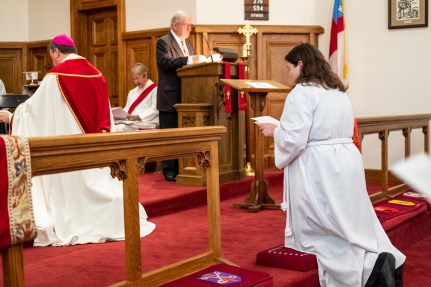 On Friday October 11, 2019, All Saints' Episcopal Church, Nevada hosted The ordination of Melissa Roberts George to the Sacred Order of Deacons. Image credit: Gary Allman
