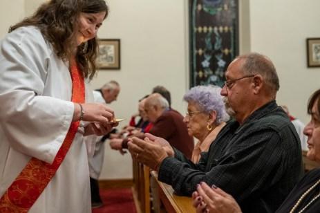 First Eucharist as a Deacon. Image credit: Gary Allman