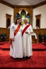 "The Rev. Deacons Mellisa George and Rebecca ""Beck"" Schubert. Image credit: Gary Allman"
