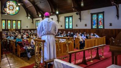 Bishop Marty delivers his sermon, April 17, 2021. Area Confirmation service at Grace Episcopal Church, Carthage, Missouri.Image credit: Gary Allman