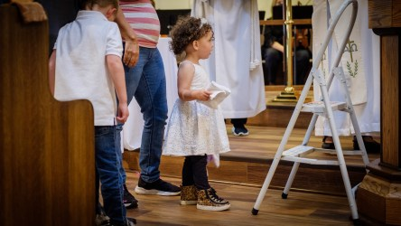 That moment when ... your baby sister is baptized. Baptisms at St. James Episcopal Church, Springfield, Missouri. Image credit: Gary Allman