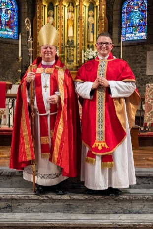 Bishop Marty and Father Isaac. The Ordination of Isaac Ross Petty to the Sacred Order of Priests at Grace and Holy Trinity Cathedral, Kansas City, Missouri. Image credit: Gary Allman
