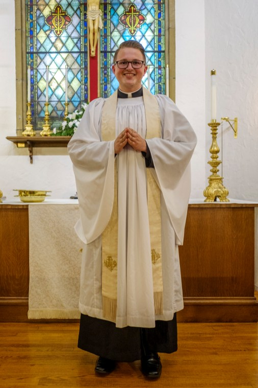 The Rev. Isaac Petty, Vicar of St. Luke's Episcopal Church, Excelsior Springs, Missouri. Image credit: Gary Allman