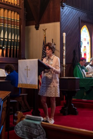 The Liturgy of the Word - Joshua 1:7-9. The Installation of the Rev. James Harris as Priest in Charge, All Saints' Episcopal Church, West Plains, Missouri. Image credit: Gary Allman