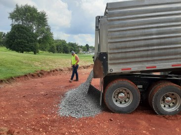 Base gravel. Image: Chandler Jackson