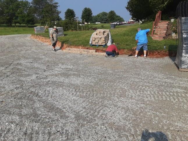 Retaining wall. Image: Chandler Jackson